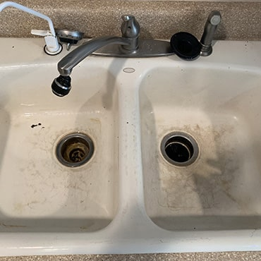 house cleaning services dirty sink